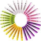 Dartpfeil-Schäfte, Dartschäfte, dartshaft 30 Dart Schäfte + 30 Darts Silber Metall Stem Spring Ringe 5 verschiedene Farben