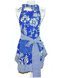 Coqueto delantal de mujer Gils, color azul