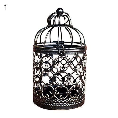 Homeofying Kerzenhalter im Vintage-Stil, Hohler Kerzenhalter, Laterne, hängend, Tischdekoration 1# -