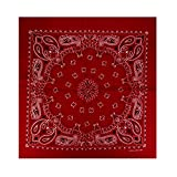 Alex Flittner Designs 12er Pack Bandanas mit exclusivem Paisley Muster in rot