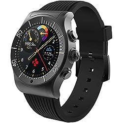 MyKronoz MKZESPORT - Reloj de actividad y sueño (notificaciones, pantalla táctil) color negro