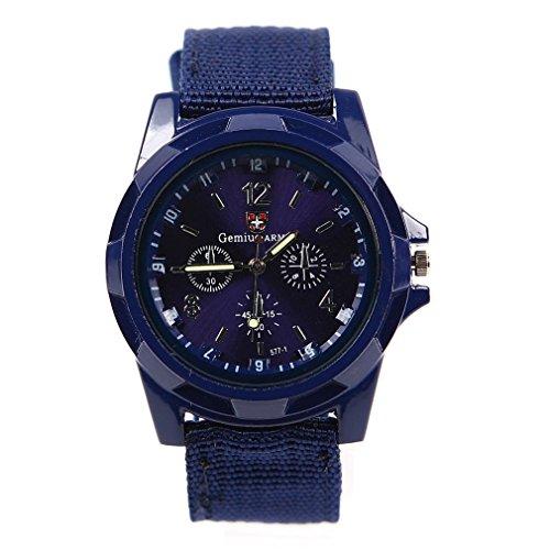 93f2f5196828 gemius army Estilo del deporte Banda de lona Reloj de pulsera de cuarzo  Azul oscuro