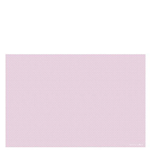 Laroom Alfombra Vinílica Infantil Diseño Puntos, Vinilo Antiliscante, Rosa, 100x133 cm