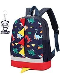 Mochila escolar para niños con diseño de dinosaurio, para guardería, preescolar, con doble