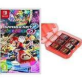Mario Kart 8 Deluxe + Funda para almacenamiento de juegos (Rojo) AmazonBasics