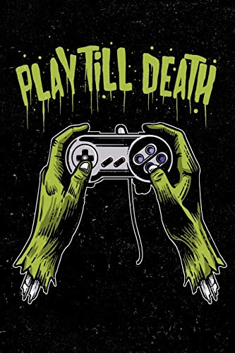 Play Till Death: Zombie Gamer Storyboard Design Book For Men, Women, Teen and Kids Zebra Design Pc