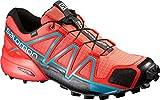 Salomon L39183600, Zapatillas de Trail Running Para Mujer, Naranja (Coral Punch/Black/Blue Jay), 38 2/3 EU