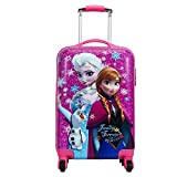 EXCLUSIVE FASHION LUGGAGE Polycarbonate 360 Degree Rotating Non-Breakable Trolley for Girls (20-inch, Pink)