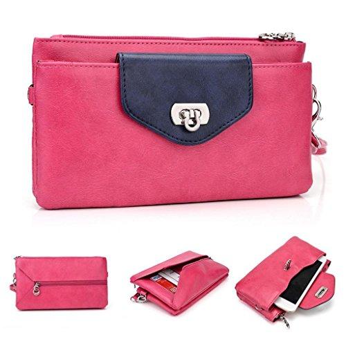 Kroo Femme pour Pocketbook pour Smartphones, phablettes 15cm, Compatible avec Lenovo a889/A880 Black and Blue Magenta and Blue