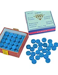 YOTINO 50 Pezzi Stecca Biliardo Punte, Puntali per Biliardo Blu con Colla, Punte Billiard Cue per Snooker Blu
