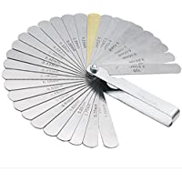 Metrisches Master Fühlerlehre Set 32-teilig Klinge Edelstahl Dual Markierte metrische/Imperial Lesen Kombination Werkzeug für Messung Gap Breite/Dicke/metrisch Größen