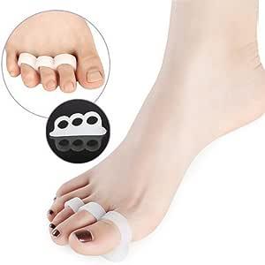 2x Silikon Soft-Gel Zehenspreizer drei Zehen, Zehenrichter