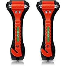 LIHAO - 2 martillos de Emergencia para la ventanilla del Coche con Cortador del cinturón de
