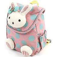Oyedens 3D Cute Rabbit Baby Backpack Toddler Kids School Bag for Kindergarten (Pink )