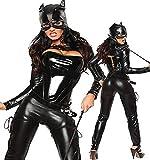 Sexy Damen Kostüm Cat Girl Katze Women Catsuit Gr. S-M 36 38