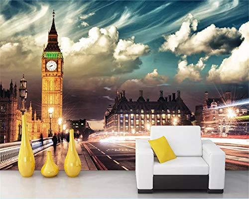 Wallpapereuropean paesaggio architettura bar soggiorno camera da letto campana voluminosa nella foto di notte di londra wallpaper-350x250cm