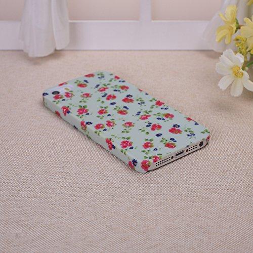 EKINHUI iPhone 6S Plus h¨¹lle, Art und Weise Neue kleine frische Weinlese -Blumenblumenmuster Design Kunststoff Hard Case f¨¹r das for iPhone 6S Plus(1) 2