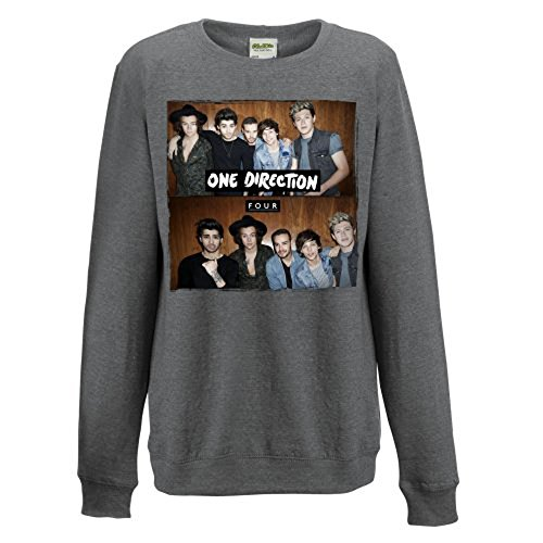 Unbekannt One Direction Four Ladies Grey Sweatshirt: Medium