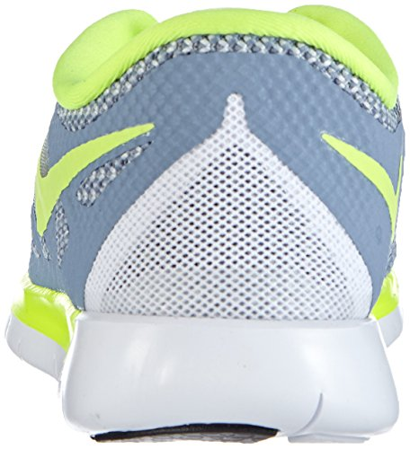 Nike Free 5.0 (Gs) Sneakers, Bambini E Ragazzi Blu (Cool Blue/Volt-Wolf Grey-White)
