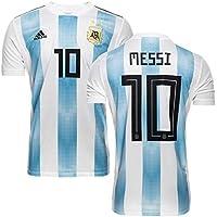 maillot Messi Argentine Coupe du Monde 2018 Superbe en T10 Ans 140 CM Environ avec Le Short et Chaussettes modele Répliqua autorisé Fan Version