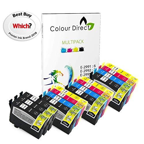 Colour Direct -3 Impostatos + 3 Nero Compatibile Cartucce d'inchiostro - 29XL Sostituzione Per Epson Expression Home XP-235 XP-245 XP-247 XP-255 XP-257 XP-332 XP-335 XP-342 XP-345 XP-352 XP-355 XP-432 XP-435 XP-442 XP-445 XP-452 XP-455 Stampanti. 6 X 2991 3 X2992 3 X 2993 3 X 2994