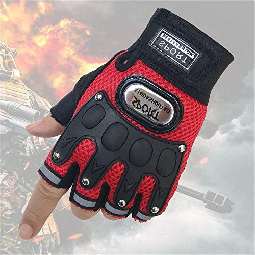 DD/LZY Gloves, Half-Fingered Gloves, Sports Gloves, Outdoor New Pirate Skull, Personal Sports Gloves, Lovers Riding,Gules,F