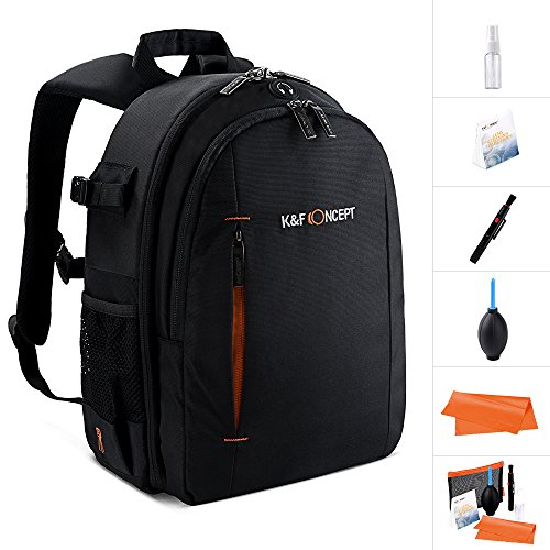 Camera Backpack,K&F Concept® Multifunction Security Camera DSLR Bag Organizer Rucksack Waterproof with tripod holder,Rain Cover for Laptops Tablets Canon Nikon Camera Accessories Black for Men/Women