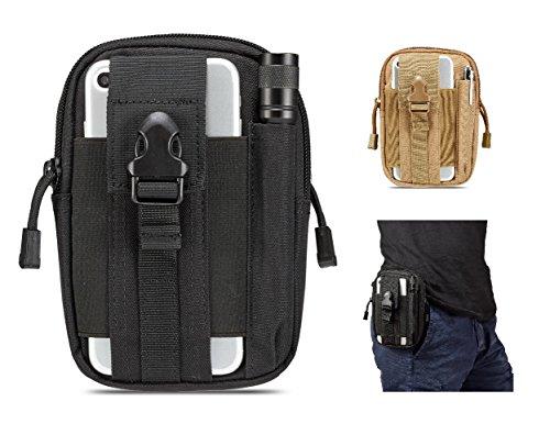 d093aa5480b89 egooz Tactical MOLLE EDC Tasche Utility Gürtel Taille Gadget Tasche mit  Handy Holster Halterung für Camping