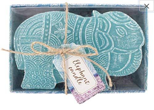 Mythri UK Diwali Regalo, pequeña Vela de Elefante Turquesa, Regalo de Elefante