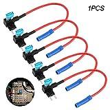 Behavetw - Adaptador de tapón de fusibles para Coche, 12 V, Mini ATM APM, Soporte para fusibles de Cuchilla (Miniatura, Rojo)