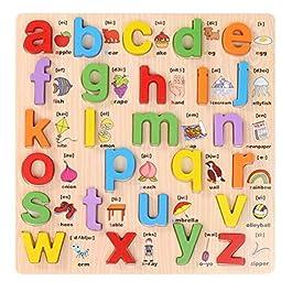 abc alfabeto apprendimento inglese bambini bambini legno peg puzzle educazione precoce giocattoli en