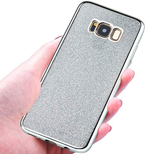 NWNK13 ® Coque souple ultra fine en gel/TPU Coque arrière avec strass plaqué Design plaqué cadre pare-chocs Collection Coque pour Samsung Galaxy