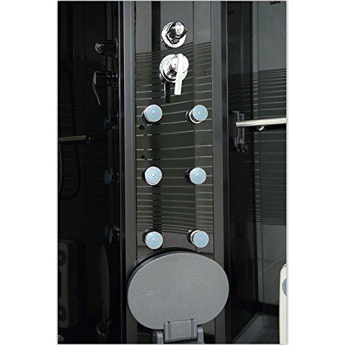 Home Deluxe Black Pearl 120x80 cm links Duschtempel, inkl. Dampfsauna und komplettem Zubehör - 4