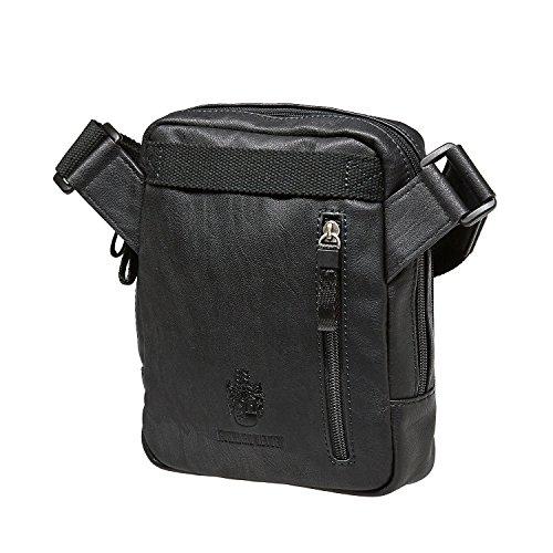 Jost Messenger Bag with zip S Cult Army [2] Marrone|multicolore Nero