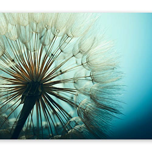 murando - Fototapete Pusteblumen 350x256 cm - Vlies Tapete - Moderne Wanddeko - Design Tapete - Wandtapete - Wand Dekoration - Natur Landschaft Blumen blau ombre Pusteblume b-B-0059-a-c -