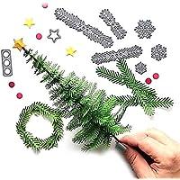 Hilai El Corte 1pc Troqueles de Corte metálico de la Navidad en Relieve Dies Dies Plantilla de Metal Creativo Regalos del Arte moldea DIY (Árbol de Navidad)