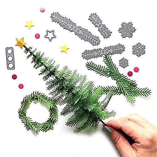 Hilai 1pc fustelle di taglio di natale dei metalli stampi goffratura dies stencil metallo creativo dei regali del mestiere della muffa diy (albero di natale)