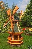 Windmühle,Windmühlen ++kugelgelagert++95cm Bitum grün