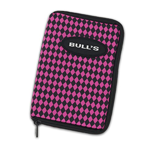 BULL'S TP Wallet Darttasche Pink Schwarz Karo für ein Satz Darts und Zubehör trendsportprofi Checkout Table - Pink Schwarz Karo