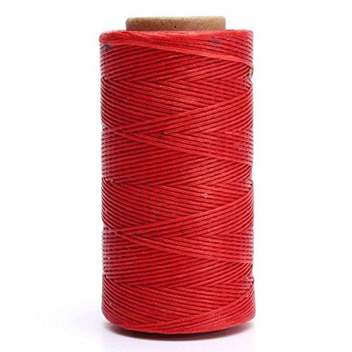KING DO WAY Bobina dei Filati per Cucire in Pelle a Mano 260m 150D Fai da te Multicolore Filo Cerato rosso