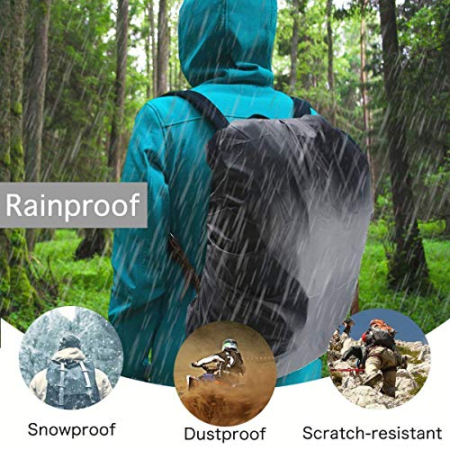51uj9U0d0EL. SS500  - Frelaxy Waterproof Backpack Rain Cover, 15-90L Rucksack Bag Cover with Upgraded Non-Slip Cross Buckle Strap & Rainproof Storage Pouch & Silver PU Coating, Perfect for Outdoor Activities