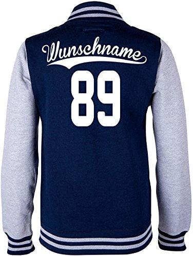 EZYshirt® Kinder College Jacke mit Wunschnamen und Wunschnummer Brannon