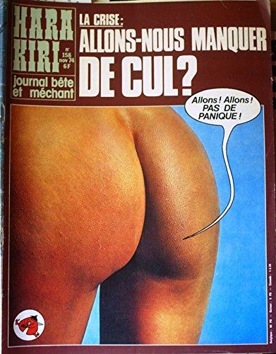 Hara-kiri mensuel, journal bête et méchant. Numéro 174. L'église condamne la tarte aux pommes. Hara-Kiri. Mars 1976. (Dessin d'humour, Humour, Périodique)