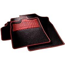 carfashion 254577universal pie   Juego de alfombrillas para escalón Protección y costuras en rot  sin soporte, Auto Esterilla apta para muchos tipos Auto