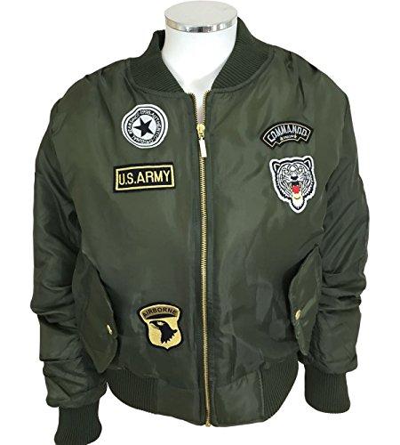 ninas-ninos-kids-plain-ma1-us-air-pilot-zip-up-motorista-de-emblemas-de-bomber-perchero-de-pared-de-