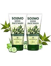 Solimo Neem Facewash 150ml - SLES & Paraben Free Formula - Pack of 2N