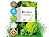 Rhodiola Rosea Kapseln - 120 Stück [4-Monatsvorrat] • 100 mg Premium Rosenwurz Extrakt & 3% Rosavin je Kapsel • VEGAN • Pflanzenkraft • Stress • Konzentration • Ausdauer • Made in Switzerland