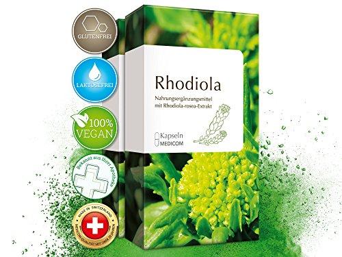 Rhodiola Rosea Kapseln - 120 Stück [4-Monatsvorrat] – 100 mg Rhodiola-rosea-Extrakt mit 3%...