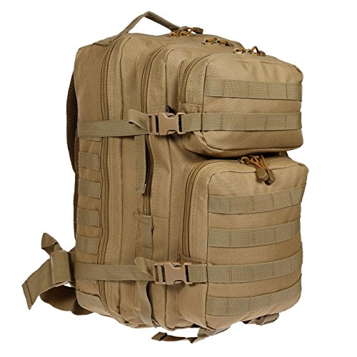 XL Rucksack Multifunktions Backpack Military Outdoor Schule Laptopfach Unisex 50 L Beige