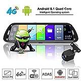 TOOGOO Android 8.1 Auto DVR GPS Navigator Kamera 10 Zoll FHD 1080 P Stream Media RüCk Spiegel 4G GPS Spiegel Dash Cam Recorder